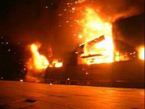 Пожар в городе Рубцовске травмирован пенсионер!