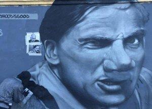 В Петербурге нарисовали портрет Дмитрия Нагиева в роли прапорщика Задова